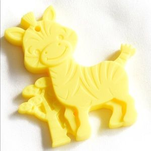✨Zebra Teether✨YELLOW BPA Free with Clip